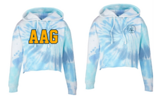 AAG- Tie-Dye Ladies' Cropped Hooded Sweatshirt