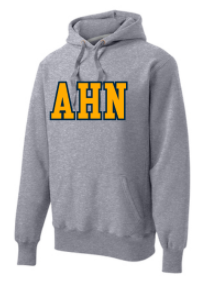 "AHN- Heavy Weight ""Collegiate Style"" Sweatshirt, Applique decoration"