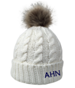 AHN- Fur Pom Beanie, navy or cream