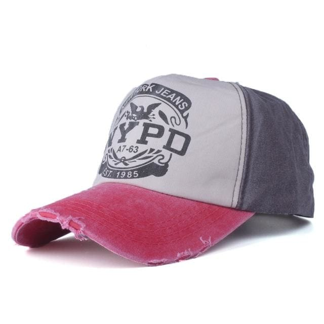 Baseball Cap Nypd - Red And Coffer - Baseball Cap | The Guys Spot