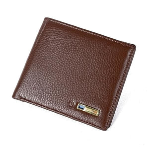 Leather Smart Wallet For Ios/android - Brown - Wallets | The Guys Spot