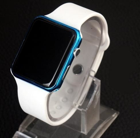 Led Digital Watch - White Blue - Digital Watch | The Guys Spot