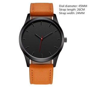 Military Quartz Leather Watch - Brown - Watch | The Guys Spot