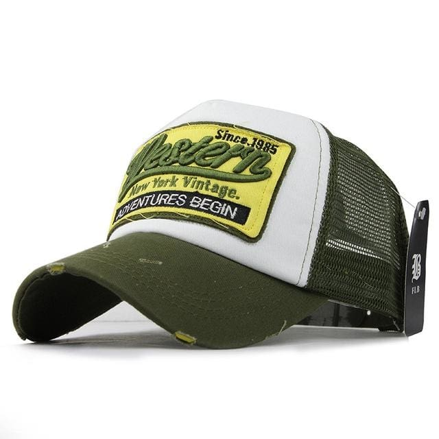Western Trucker Cap - Green - Trucker Cap | The Guys Spot