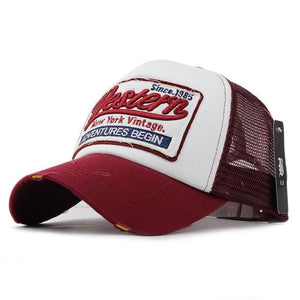 Western Trucker Cap - Red - Trucker Cap | The Guys Spot