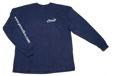 Shirt - navy with white logo