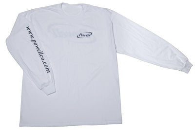 Shirt - white with navy logo
