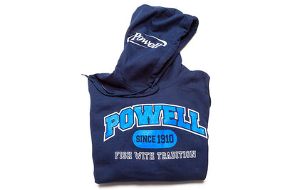 Hooded Sweatshirt - navy college block