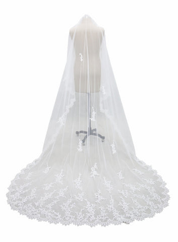 Cathedral Length Ivory Veil