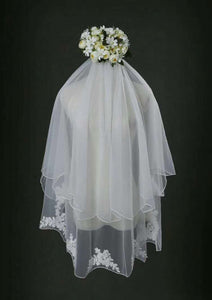 Finger Tip Length Veil Two Tiers Veils V-029
