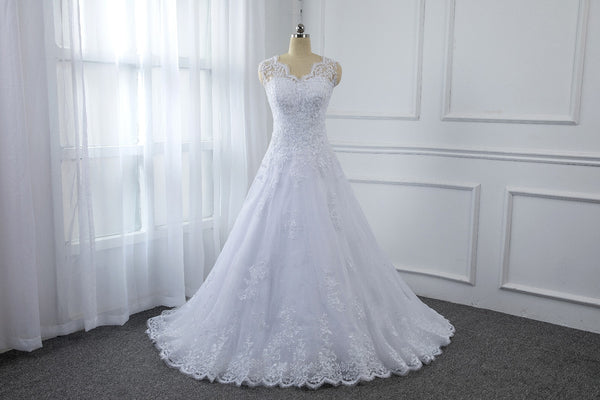 White Sheath Column Sequin Applique Lace Dress with Long Sleeves