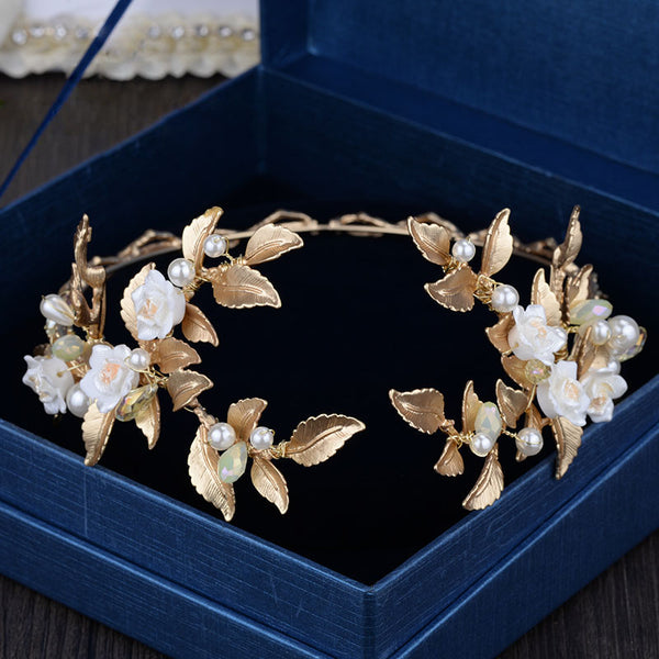 Luxury Gold Halo Head Piece