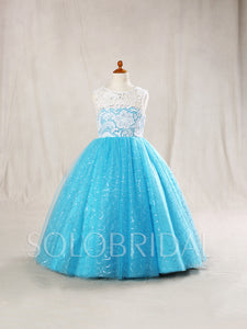 Ball Gown Flower Girl Dress with Sparkly Tulle