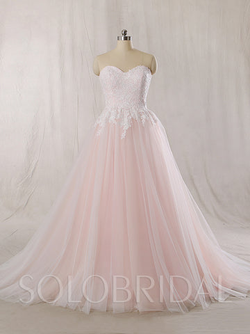 Baby Pink Wedding Dress