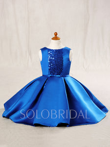 Satin and Sequin Flower Girl Dress