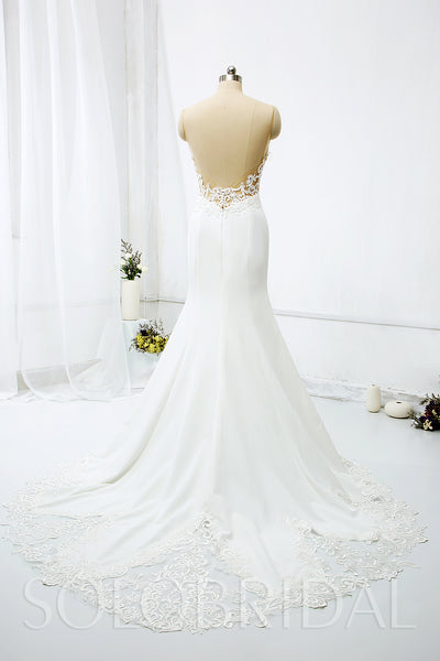 Mermaid Wedding Dress with See Through Bodice