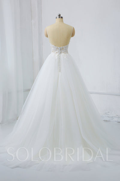 Light Summer Wedding Dress with Sexy Bodice