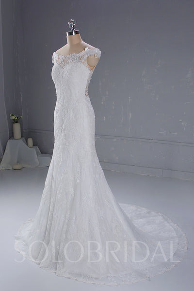 White Mermaid Wedding Dress