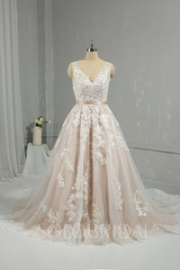 Blush A Line Ivory New Cotton Lace Wedding Dress