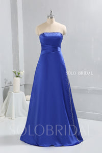 Royal Blue Bridesmaid dress with Satin Sewn Pearls