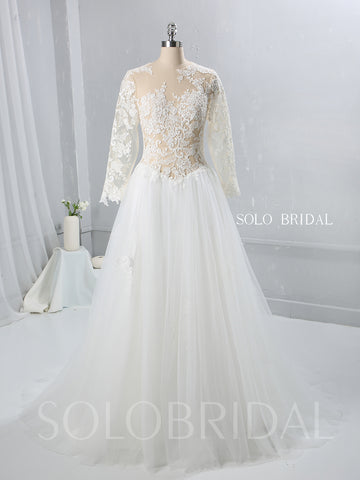 Lace Tulle Bodice and Skirt Wedding Dress