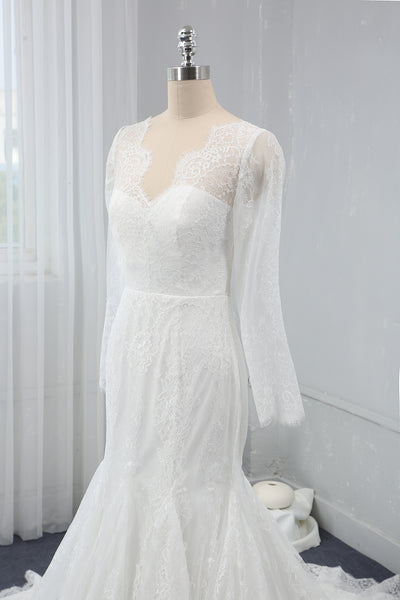 Ivory Mermaid Light Lace Wedding Dress
