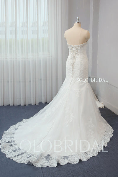 Ivory Fit and Flare Wedding Dress