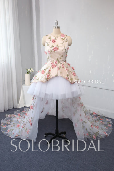 Tutu Skirt Flower Girl Dress with Long Back