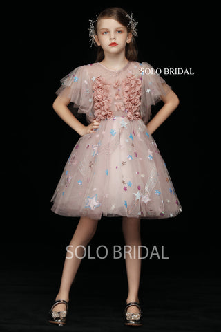 Blush Tulle Flower Girl Dress