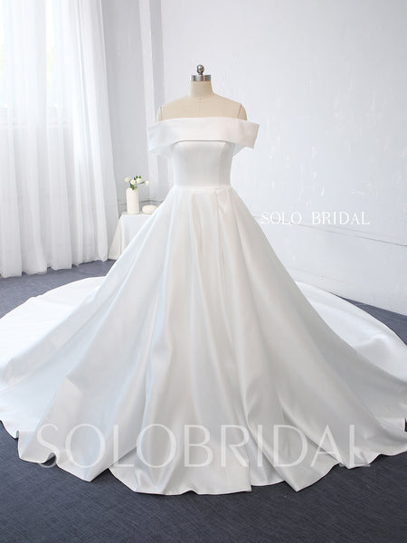Light Ivory Bridal Satin Wedding Dress