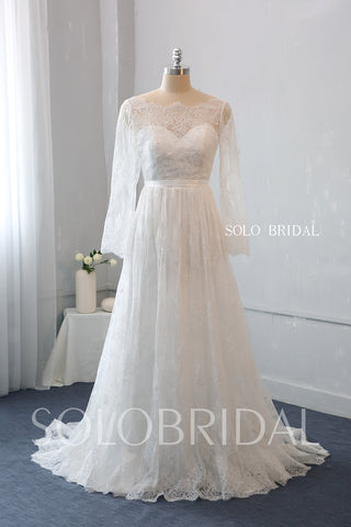 Sweetheart A Line Wedding Dress with Sweep Train