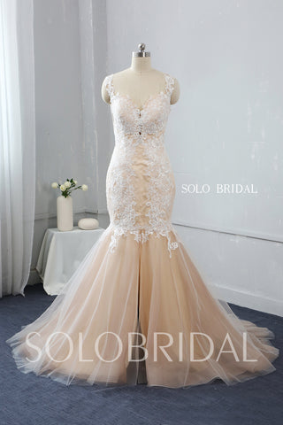 Sweetheart Mermaid Split Side Wedding Dress