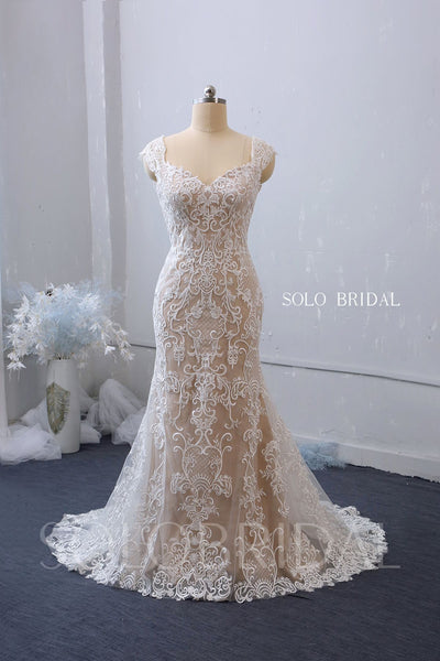 Fit and Flare Sweetheart Wedding Dress with Court Train