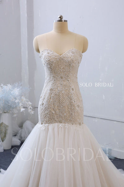 Mermaid Sweetheart Wedding Dress with Chapel Train