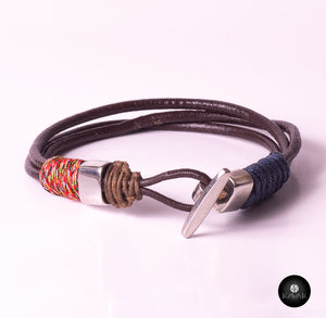 Braided Leather Cords (Blue/Brown)
