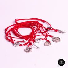 Load image into Gallery viewer, Red Strings- (Set of 9 Pieces) with Pendants - kavakbrand, handmade jewelry, fashion, jewelry for women, jewelry for men, unique jewelry, custom jewelry, jewelry designer, jewelry