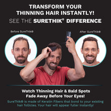 Load image into Gallery viewer, SureThik® Hair Thickening Fibers  for Men (15g/0.53oz)