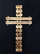 Load image into Gallery viewer, Olive Wood Cross With Prayer