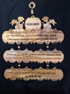 "Olive Wood ""Our Father"" Sign - CG21"