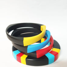 Load image into Gallery viewer, Primary colour-block inlay bangle
