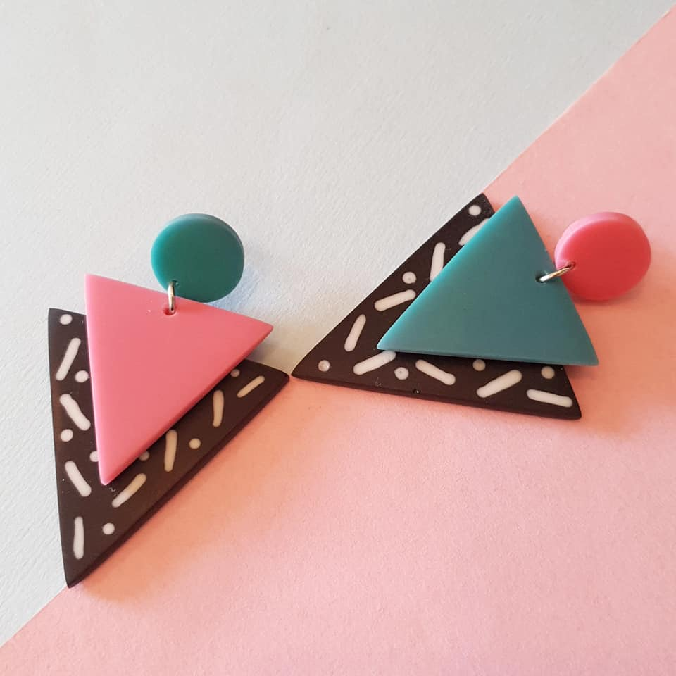 Memphis Milano candy drops in pink and turquoise MADE TO ORDER