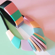 Load image into Gallery viewer, Pastel colour block tri-bangle