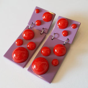 "Two colour ""Gum-ball"" drop earrings"