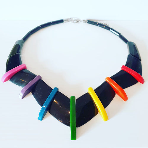 MADE TO ORDER Rainbow and black New Wave