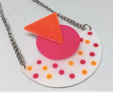 Load image into Gallery viewer, Memphis neon moon necklace