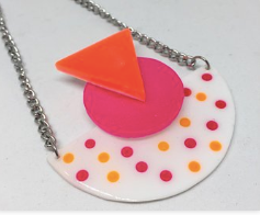 Memphis neon moon necklace