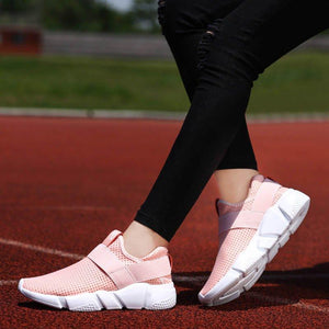 All Season Women Casual Unisex Breathable Sneakers Slip on Jogging Shoes