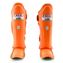 Load image into Gallery viewer, Matrix Orange Tiger Shin Guards