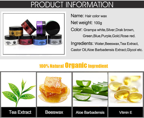 ingredients Hair Wax
