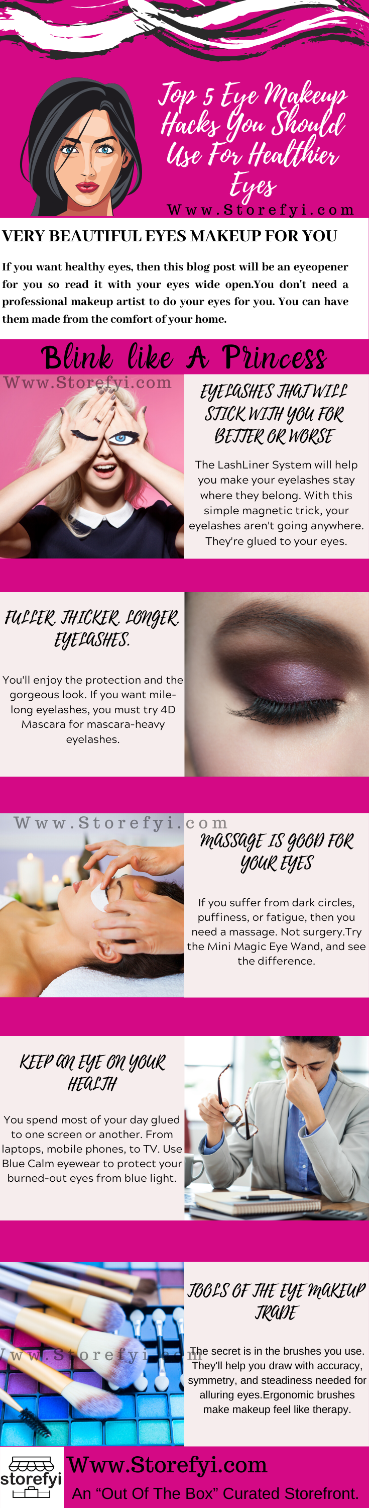 Eyes Makeup Infographics